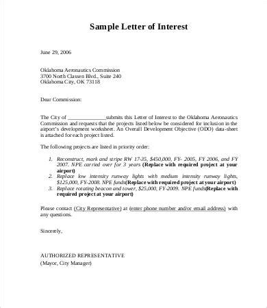letter of interest for 7 free word pdf documents