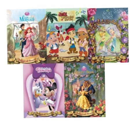 Disney Minnie Story Books Library Collection 5 Books Set disney magical story 5 books collection set