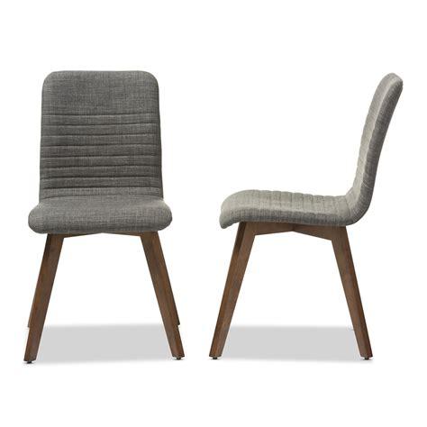 Grey Fabric Dining Room Chairs Baxton Studio Sugar Mid Century Retro Modern Scandinavian Style Grey Fabric Upholstered