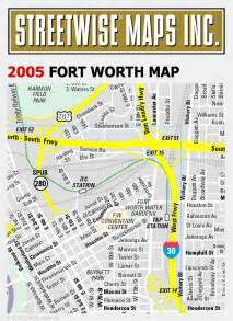 streetwise 174 fort worth map 2005 city center map