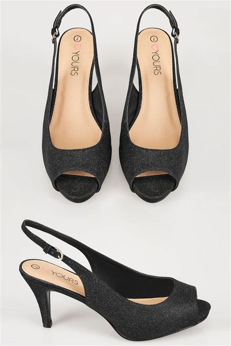 We All Like The Peep Toe But How Bout The Peep Toe Knuckle Introducing Givenchy Cutouts by Black Glittery Peep Toe Sling Back Heels In True Eee Fit
