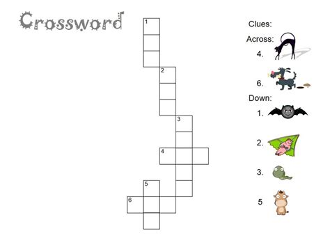 easy crossword puzzles printable animals easy crosswords puzzles for kids activity shelter