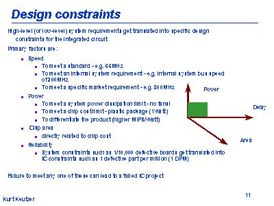 design brief specification and constraints design constraints