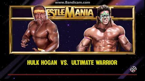 vs ultimate hulk hogan vs ultimate warrior wrestlemania 6 www