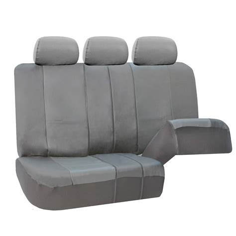 split bench seat 3 row pu leather seat covers airbag safe split bench