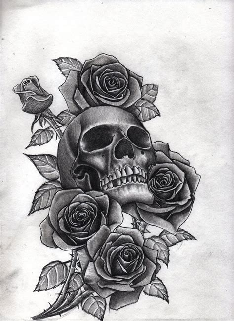 roses and skull by bobby castaldi art on deviantart