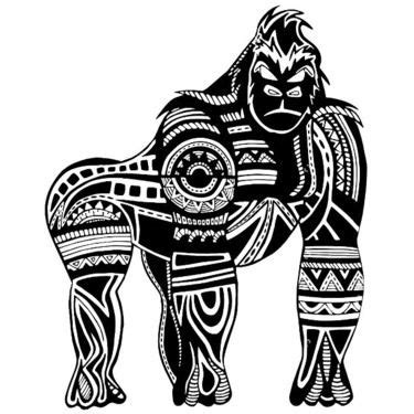 tribal gorilla tattoo ethnic manly gorilla design gorilla