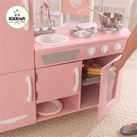 Kidkraft Vintage Kitchen Pink by Kidkraft Vintage Wooden Play Kitchen Pink
