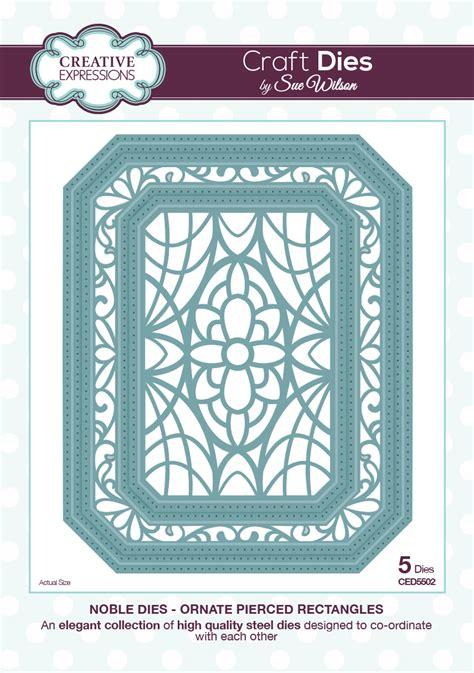 card dies noble ornate pierced rectangles die