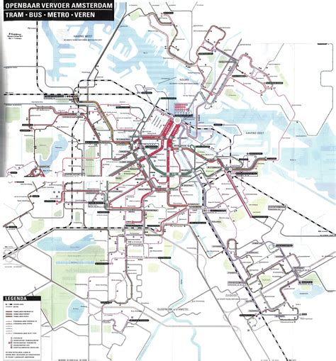 netherlands metro map large scale detailed tram and metro map of amsterdam