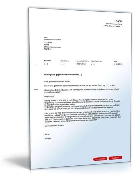 Schreiben An Jobcenter Muster Widerspruch R 252 Ckzahlung Alg Ii Besonderer H 228 Rtefall
