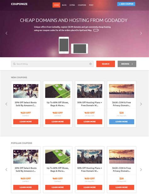 making theme responsive 7 best coupons wordpress themes to create deal site
