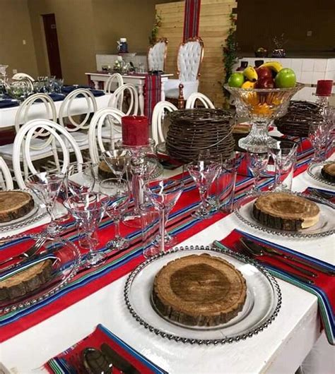 Red and Blue Venda Traditional Wedding Decor   Clipkulture