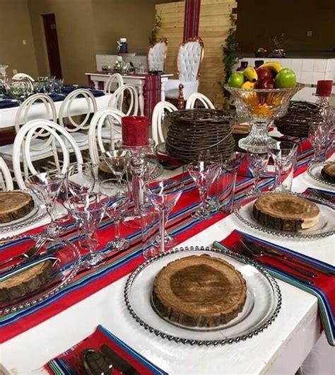 Red and Blue Venda Traditional Wedding Decor   Clipkulture