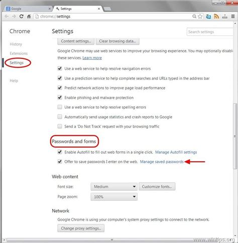 Chrome Saved Passwords   remove saved passwords from google chrome wintips org