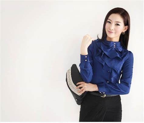 Kemeja Model Terbaru Kemeja Flannel Biru Big Size Best Seller kemeja kerja wanita ukuran besar big size model terbaru jual murah import kerja