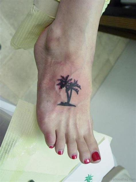 small palm tree tattoos 39 tree tattoos on foot