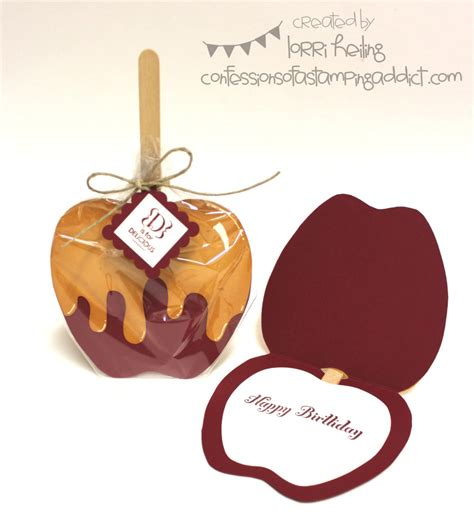 apple cards templates caramel apple card plus hallowen treat confessions of