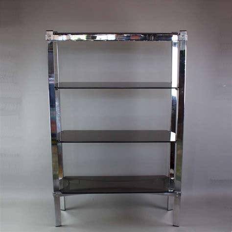 Smoked Glass Shelf by Merrow Associates Chrome Shelf Unit With Four Smoked Glass