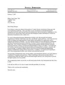 international program director cover letter sle