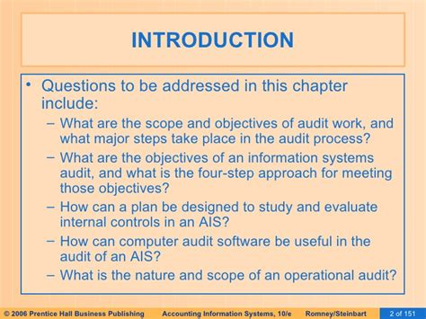 Can I Be An Auditor With An Mba In Accounting by Ais Romney 2006 Slides 09 Auditing Computer Based Is