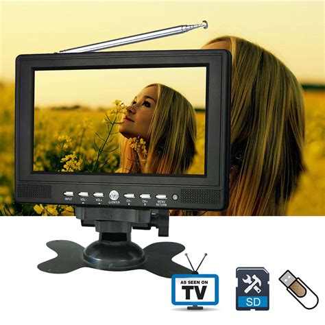 Led Tv Portable 7 Inchi Stereo Berkualitas 7inch 720p tft lcd led color analog small portable tv with wide view angle support sd mmc card