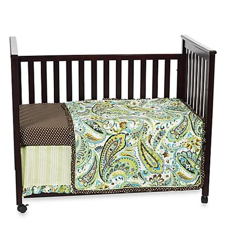 My Baby Sam Paisley Splash In Lime Crib Bedding Collection My Baby Sam Crib Bedding