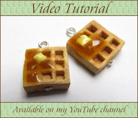 tutorial waffle polymer clay waffles update and video tutorial by talty on