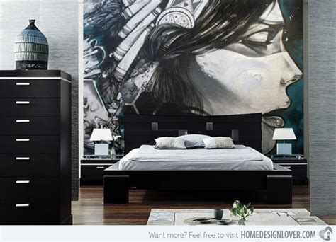 15 wonderfully designed mural wallpapers in the bedroom