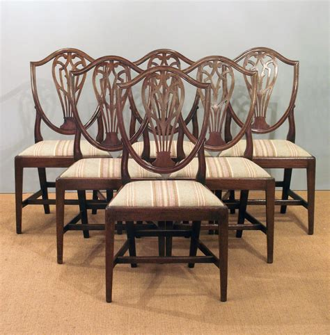 set of six antique dining chairs hepplewhite dining