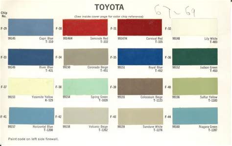 Exterior Paint Charts - fj45lv colors holy grail page 2 ih8mud forum