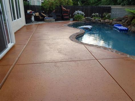 Concrete Patio Stain Colors - how to apply multi color concrete stain 8 steps with