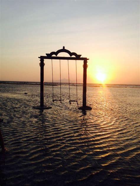 swing   sea gili trawangan bali places ive