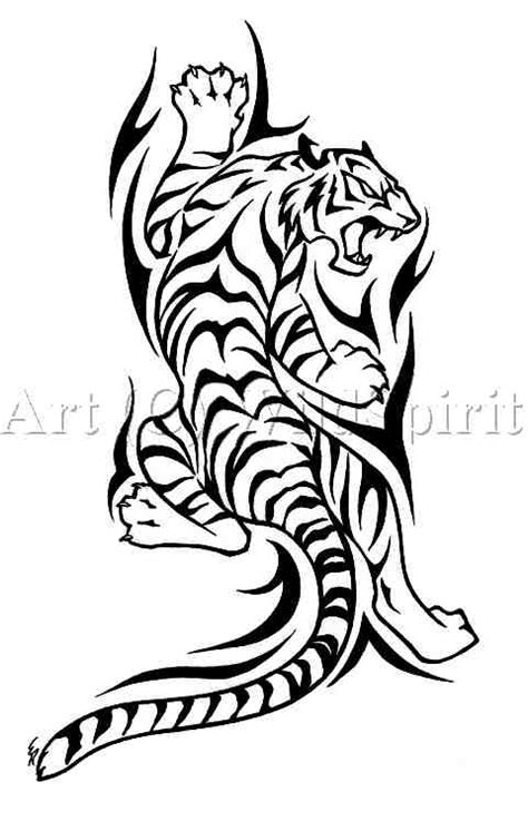 climbing tiger tattoo designs wolfs