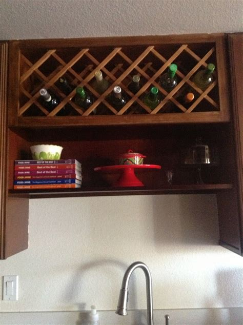 over the sink rack above the sink shelf and wine rack for the home