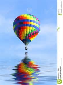 air balloon water royalty free stock image