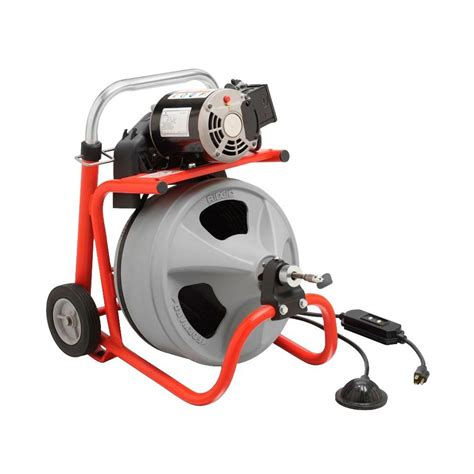Electric Plumbing Snake Drain Auger Cleaner Sewer Pipe Ridgid Drum Machine Cable   eBay