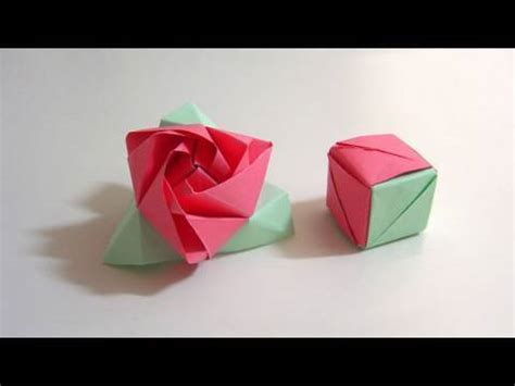 How To Fold Paper Roses - how to fold origami magic cube paper craft flower
