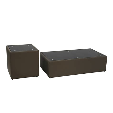 sofa steel cocktail end table w glass top in