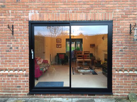 Black Patio Doors by Smart Visoglide Sliding Doors New 35mm Slim Mullion Dwl