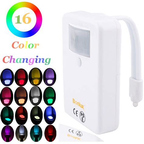 battery operated dimmable led motion sensor toilet bowl light colorful home toilet