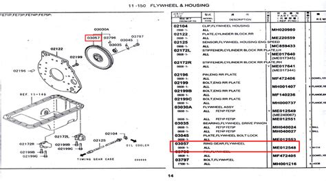 14 Suku Cadang Sparepart Mobil Hino Part me012548 ring gear flywheel spare part truck