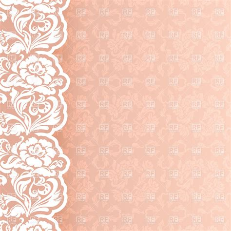 backdrop design for wedding invitation flower and lace border clip art background with delicate