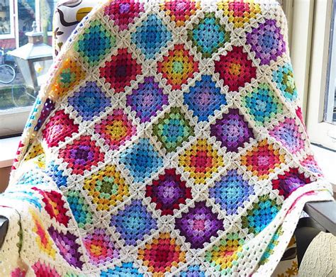 Rainbow Crochet Baby Blanket by Colourful Rainbow Crochet Baby Blanket Favecrafts