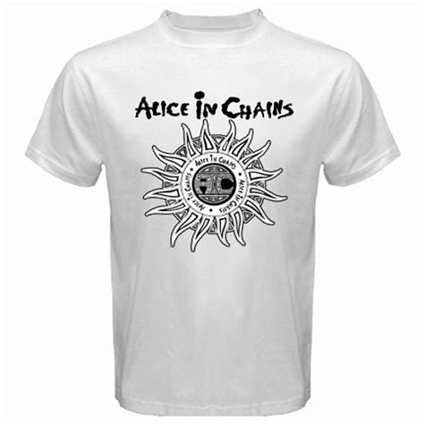 In Chains 12 T Shirt L new in chains sun logo grunge rock band s white