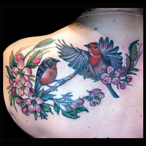 apple blossom tattoo designs robins and apple blossom done by lawson