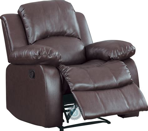 brown reclining chair cranley brown reclining chair from homelegance 9700brw 1