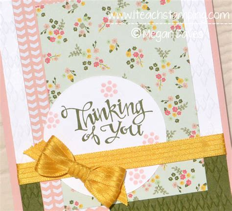 Thinking Of You Handmade Cards - paper crafts idea handmade thinking of you card i teach