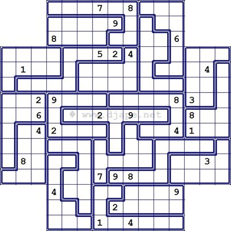 printable outside sudoku flower jigsaw sudoku puzzles pinterest