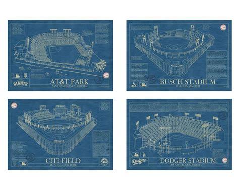 baseball stadium blueprints parks dads  dodger stadium